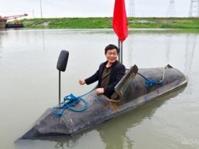 51岁中国农民建小潜艇 俄网友解答原理