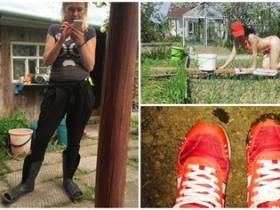 俄城市女孩在农村  VK上鞋子粘了便便的骚年亮了