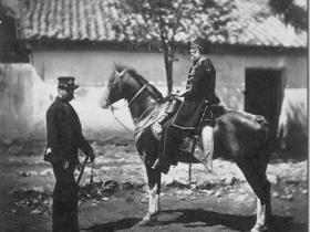 克里米亚战争镜头下的俄国士兵和土耳其士兵