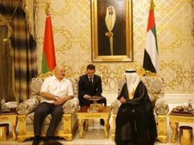 白俄罗斯总统卢卡申科正在对阿联酋进行工作访问