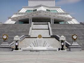 土库曼斯坦首都 阿什哈巴德城市风景
