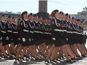 美女抢镜!女兵成为俄罗斯胜利日红场阅兵一道风景