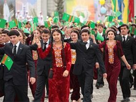 中亚的中立国 土库曼斯坦独立日阅兵照片