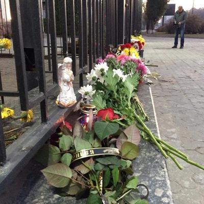 乌克兰民众悼念俄罗斯空难的遇难者