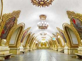 莫斯科地铁站 宛如地下神秘的宫殿