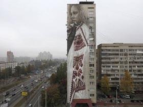 基辅街道上的惊人艺术