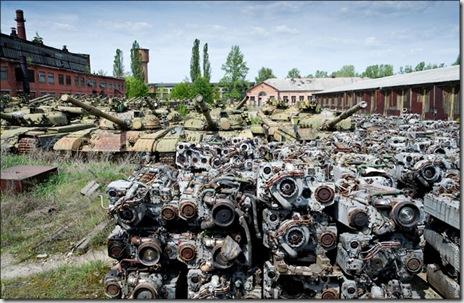 乌克兰的哈尔科夫坦克坟场