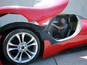 中国小伙造出超级跑车 俄罗斯网友流口水了