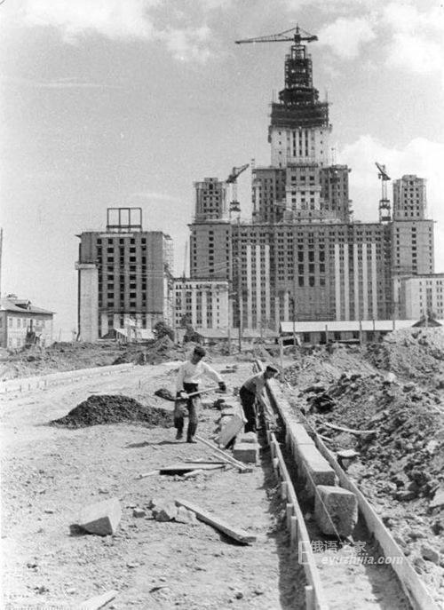 来围观!俄罗斯当年是怎样修建莫斯科大学